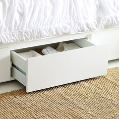 Storage Bed Frame - White | west elm