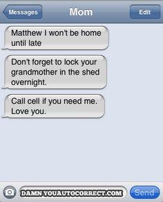 funny auto-correct texts - Locked Up