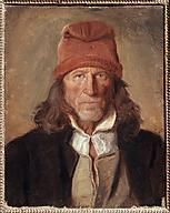 Works by: Adolph Tidemand Portrait Study of a Norwegian