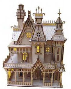 I really want this kit to build. Could be cool steampunk house!!  Google Image Result for http://www.mglaserworks.com/cart/images/D/Victorian_Doll_House_1.png
