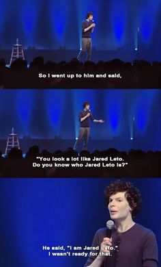 Simon Amstell talking about Jared Leto