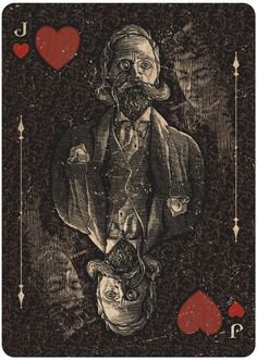 ORACLE - Mystifying playing cards by chris Ovdiyenko on Kickstarter until november 8. Jack of Hearts depicting spirit photor