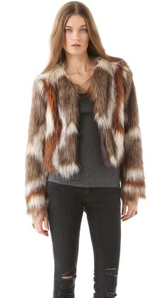 Twelfth St. by Cynthia Vincent Faux Fur Jacket.  Soooo want this in the worst of ways!