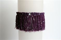 Purple Sparkle Fringed Prom Garter