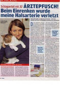 TV Klar vom 08.03.2013 - Schlaganfall mit 32 - Ärztepfusch! Beim Einrenken wurde meine Halsarterie verletzt - Rechtsanwaltskanzlei Sabrina Diehl