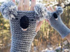 Koala Fingerless Gloves ~ Free Shipping Worldwide