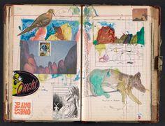 Vintage ledger as visual journal