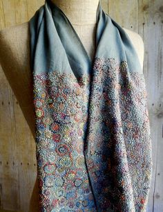 """Lampions"" Linen scarf"