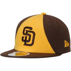 Youth New Era Brown Gold San Diego Padres Authentic Collection On-Field  Alternate 2 59FIFTY Fitted Hat 1e4d0c0a215f