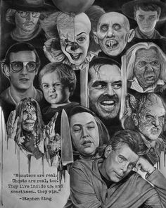My pencil drawing. tattoos horror movies My pencil drawing. Stephen King It, Films Stephen King, Stephen King Quotes, Steven King, Stephen King Tattoos, Horror Movie Posters, Horror Movie Characters, Horror Icons, Horror Movie Tattoos