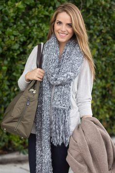 @galmeetsglam gets cozy in a knit scarf and James Jeans - Shop her style: http://jamesjeans.us/