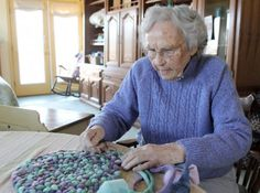Norma Sturges has been making braided rugs for 65 years. When she was expecting her first child, she had a vision of a nursery with a pink and blue braided
