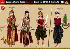 Busana Melayu di Era Silam - Page 2 - CariGold Forum Traditional Fashion, Traditional Dresses, Princess Illustration, Fashion Vector, Filipino Culture, Vietnam, Historical Clothing, Cute Outfits, Vintage Fashion