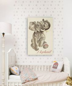 Look what I found on #zulily! Olivia's Easel 'Elephant' Gallery-Wrapped Canvas #zulilyfinds