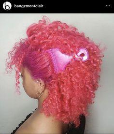 Colored Curly Hair, Hair Color For Black Hair, Pink Hair, Dyed Natural Hair, Natural Curls, Dyed Hair, Girls Natural Hairstyles, Braided Hairstyles For Black Women, Curly Hair Braids