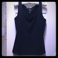 Navy H&M tank top Navy H&M tank top in great condition! Stretch fabric is very soft and looks great when layered! H&M Tops Tank Tops