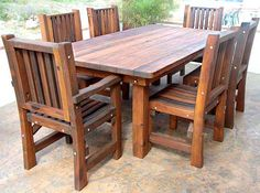 Redwood Table  http://www.outdoorpatiosets.com/images/products/detail/patio_table_7x4lg.jpg