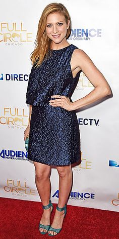 Last Night's Look: Love It or Leave It? | BRITTANY SNOW | in a tiered sparkly gunmetal mini and ankle-strap peep toes at the West Hollywood premiere of DirecTV Audience Network's Full Circle.