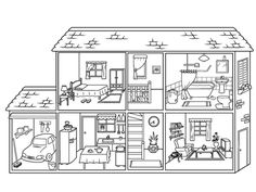 Spanish 1 spanish house, house colouring pages, english primary school. Spanish Classroom, Teaching Spanish, Teaching English, Spanish 1, Spanish House, House Colouring Pages, Coloring Pages, English Primary School, Grande Section