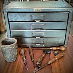 Vintage metal filing drawers. #vintage #metal #filing #drawers #storage #cabinet #home #decor #industrial #furniture #interior #design #patina #tools #smelting #pot #whatremains #594kingstreet #newtown #sydney by what.remains