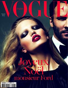 Daphne Groeneveld and Tom Ford by Mert & Marcus Vogue Paris December 2010 January 2011