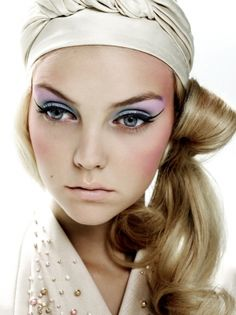 """The Peek-A-Boo Girl"" Model: Heather Marks Photographer: Kenneth Willardt Magazine: Vogue Nippon Beauty August 2007 Love Makeup, Makeup Art, Hair Makeup, Pretty Makeup, Makeup Ideas, Pastel Makeup, Sexy Makeup, Makeup Inspo, All Things Beauty"