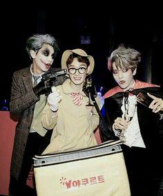 SM halloween party - Chanyeol, Chen and Baekhyun