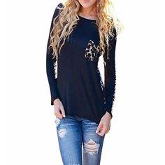 Leopard Patchwork Shirt