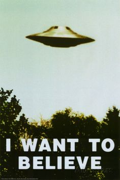 The X-Files - I Want To Believe Print Póster                                                                                                                                                     Más                                                                                                                                                                                 Más