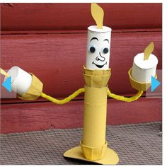 Cue idea watch a movie or read a book and do a craft with it! :) (http://family.go.com/disney/beauty-and-the-beast-photo-gallery-pg/#Tissue%20Tube%20Candelabrum;7)  Is the website with different ideas for Beauty and the beast!
