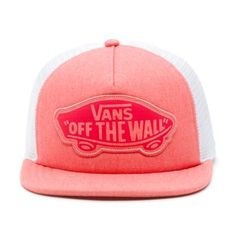 0a1c7e9f036 Vans Shop Beach Girl Trucker Hat Georgia Peach - Product DetailsThe Beach  Girl Trucker Hat is a cotton adjustable trucker hat with an Off The Wall  logo ...