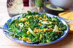 Turmeric Chicken & Kale Salad with Honey Lime Dressing Recipe on Yummly