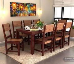 Shop 8 Seater Dining Table Set online to get enthralling dining room interiors. Enjoy dinner parties with family & friends and flaunt the regal space. Fetch modern range of #DiningRoomFurniture online at Wooden Street to buy the suitable dining furniture units in #Chennai #Kolkata #Lucknow