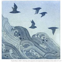 By Emma Nishimura Etching. Japanese Woodblock. #eching By Emma Nishimura Etching. Japanese Woodblock.