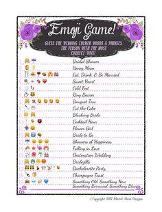 Astounding image with regard to emoji bridal shower game free printable