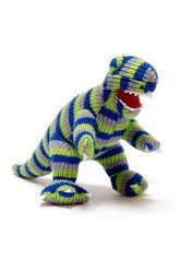 Knitted Stripy T Rex