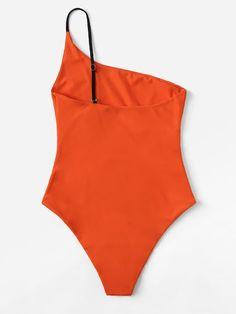 Bañador una pieza con un hombro | ROMWE Cute Swimsuits, Women Swimsuits, Bikini Swimwear, Bikinis, Beach Bunny, Bikini Bodies, Bikini Fashion, Dance Wear, One Piece Swimsuit