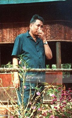 An undated file picture probably taken in 1989 in western Cambodia shows the leader of the Maoist Khmer Rouge movement Pol Pot, who between 1975 and 1979 held power in Cambodia committing numerous atrocities. Khmer Rouge radio announced 18 June that Pol Pot surrendered, without saying who he turned himself into.