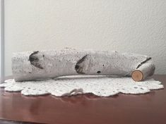 Birch wood log candle holder, rustic decor, gift for her, tea light candle holder
