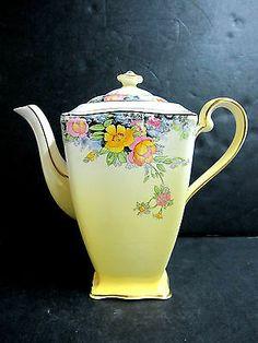 RARE Antique Royal Winton Grimwades Ascot Floral Chintz Teapot England C 1945 51