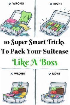 We're here to help you pack like a pro. There are smart ways to simplify the task of making sure you have everything, without bringing along too much, and fitting it all into your carry-on.  #travel #traveling #packsuitcase #packbagtricks