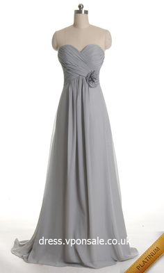Orange Sweetheart Neck Long Bridesmaid Dress VPBN772 [VPBN772]