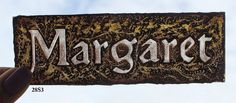 Stained Glass Window Fragment, Name, Margaret, hand painted new fragment : 28s3. $20.00, via Etsy.