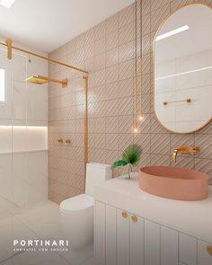 Modern Bathroom Design, Interiores Design, Corner Bathtub, Round Corner, Kitchen Decor, Sweet Home, New Homes, My House, Mirror