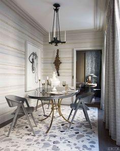 Jean-Louis Deniot Design - Modern Apartment Decor Ideas - ELLE DECOR nice wallpaper
