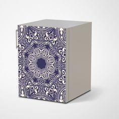 """Die #Designfolie """"Blue Mandala"""" für deinen Kühlschrank #kuehlschrank #kueche #mandala #kuehlschrankfolie"""