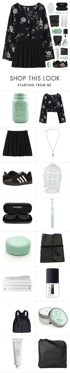 """""""OSIRIS"""" by bosspresident ❤ liked on Polyvore featuring Monki, adidas, Chanel, Supersmile, Forever 21, Frette, NARS Cosmetics, See by Chloé, Aquiesse and Byredo"""