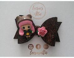 Autumn hair bow, girls hair bow, glitter bow, luxury hair bow, handmade bow, girls/baby hair accessories, cute bow, brown bow, pink bow
