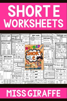 Short Vowels worksheets for the medial E sound for tons of fun reading practice! Differentiated in various levels so you have so many pages to choose from! Short I Worksheets, Blends Worksheets, Vowel Worksheets, Short Vowel Activities, Vowel Practice, Short E Words, Reading Practice, Word Sorts, Short Vowels