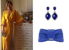 Kék színű fülbevaló és borítéktáska / blue earings & clutch
